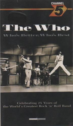 The Who Who's Better, Who's Best video (VHS or PAL or NTSC) UK WHOVIWH213078