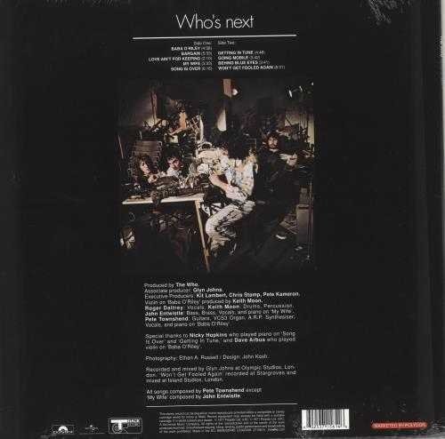 The Who Who's Next - 180gm Sealed vinyl LP album (LP record) UK WHOLPWH714935