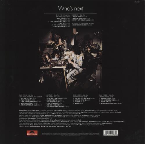 The Who Who's Next - EX 3-LP vinyl record set (Triple Album) UK WHO3LWH762315