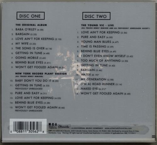 The Who Who's Next - Fully Printed Slipcase 2 CD album set (Double CD) UK WHO2CWH241665