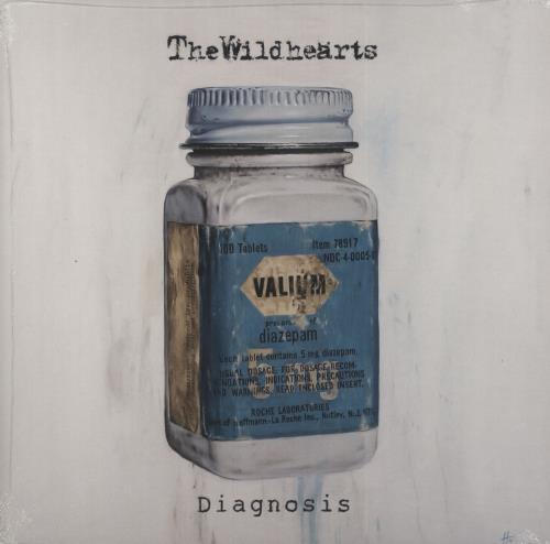 "The Wildhearts Diagnosis - Clear & Blue Splattered Vinyl - Sealed 10"" vinyl single (10"" record) UK WDH10DI731363"