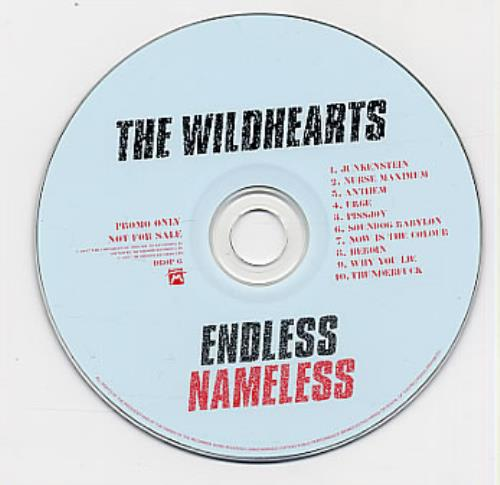 The Wildhearts Endless Nameless CD album (CDLP) UK WDHCDEN95414