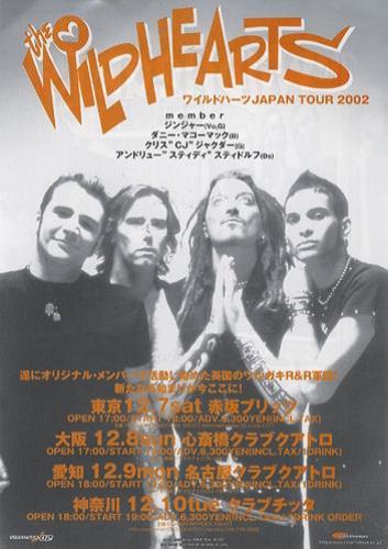 The Wildhearts Japan Tour 2002 handbill Japanese WDHHBJA234852