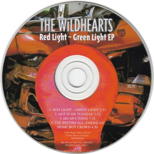 "The Wildhearts Red Light Green Light CD single (CD5 / 5"") UK WDHC5RE68904"