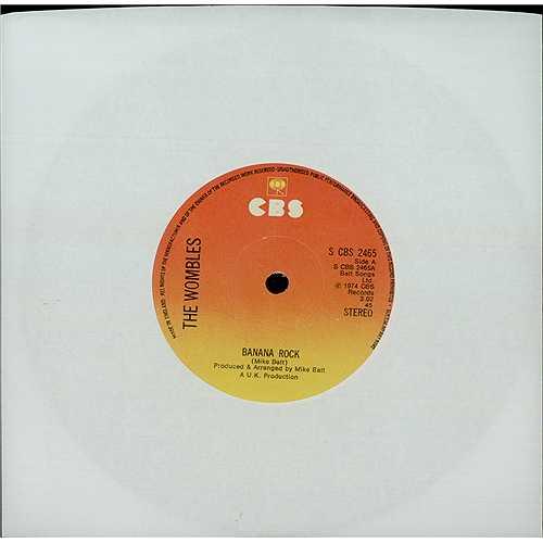 "The Wombles Banana Rock 7"" vinyl single (7 inch record) UK WMB07BA406017"