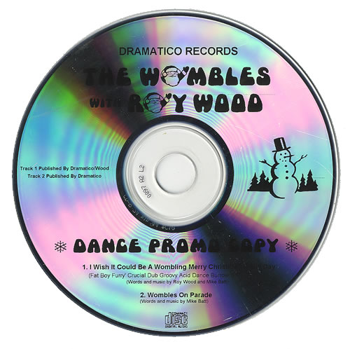 The Wombles I Wish It Could Be A Wombling Merry Christmas Every Day CD-R acetate UK WMBCRIW490365