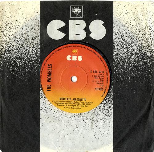 """The Wombles Minuetto Allegretto 7"""" vinyl single (7 inch record) UK WMB07MI601132"""