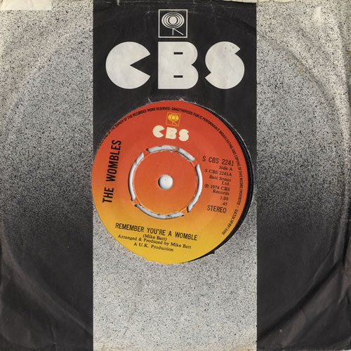 """The Wombles Remember You're A Womble - 4Prong 7"""" vinyl single (7 inch record) UK WMB07RE564007"""