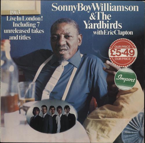 The Yardbirds 1963 Live In London! vinyl LP album (LP record) German YDBLPLI341790