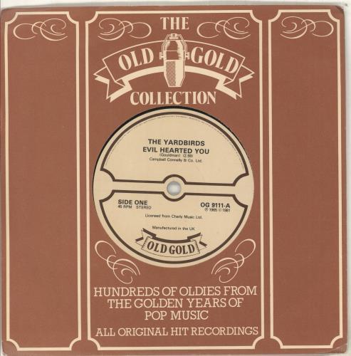 "The Yardbirds Evil Hearted You 7"" vinyl single (7 inch record) UK YDB07EV713503"