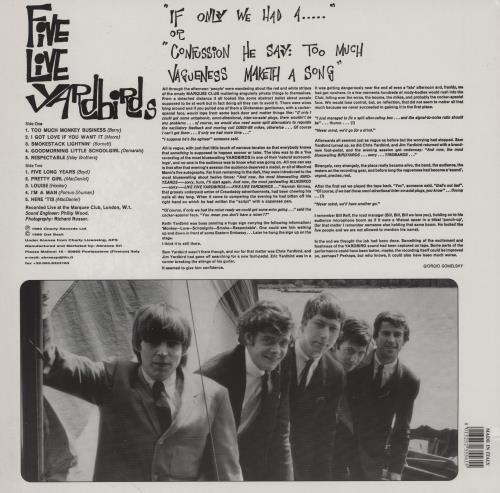 The Yardbirds Five Live Yardbirds vinyl LP album (LP record) Italian YDBLPFI392394