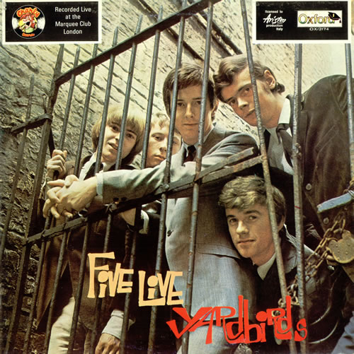 The Yardbirds Five Live Yardbirds vinyl LP album (LP record) Italian YDBLPFI487166