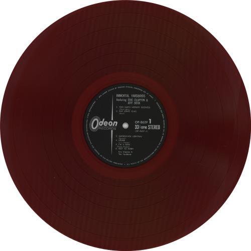 The Yardbirds Immortal Yardbirds - Red Vinyl + Obi vinyl LP album (LP record) Japanese YDBLPIM765044