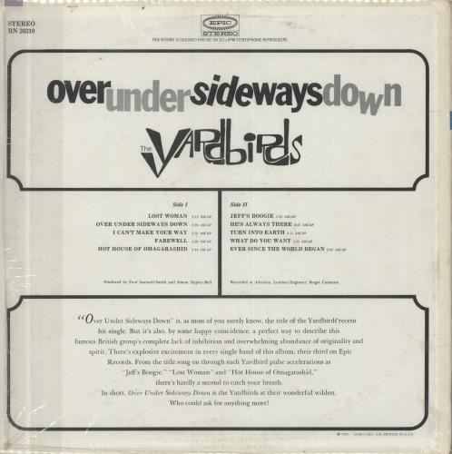 The Yardbirds Over Under Sideways Down - shrink vinyl LP album (LP record) US YDBLPOV324358