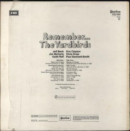 The Yardbirds Remember... The Yardbirds - 1st - EX - shrink vinyl LP album (LP record) UK YDBLPRE765796