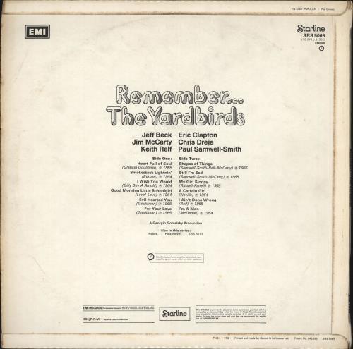 The Yardbirds Remember... The Yardbirds - 1st - EX vinyl LP album (LP record) UK YDBLPRE61888