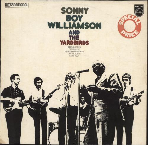 The Yardbirds Sonny Boy Williamson & The Yardbirds vinyl LP album (LP record) UK YDBLPSO72767