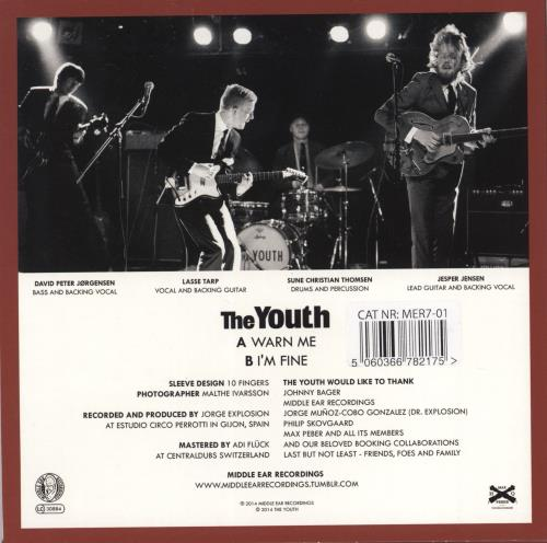 "The Youth Warn Me - Red Vinyl 7"" vinyl single (7 inch record) Swiss ZKU07WA767160"