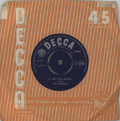 """The Zombies Is This The Dream 7"""" vinyl single (7 inch record) UK ZOM07IS654541"""