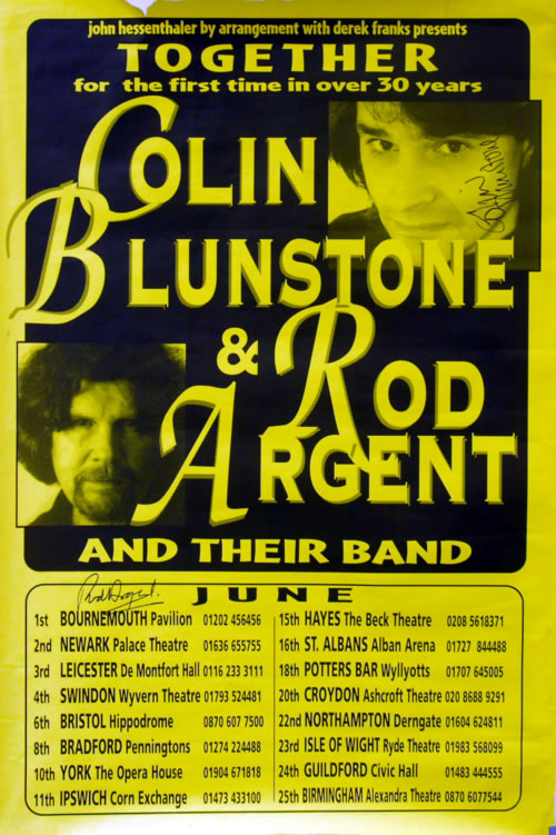 The Zombies June 2000 Tour poster UK ZOMPOJU616860