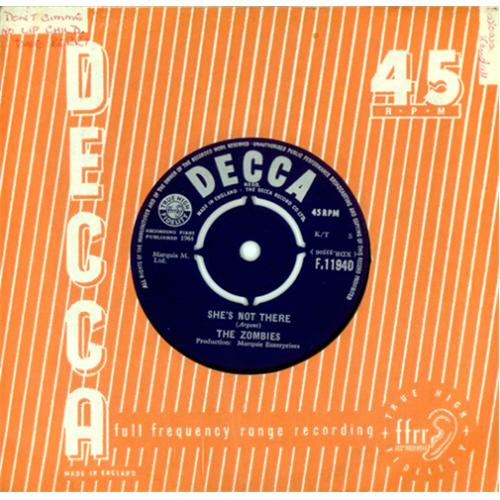 """The Zombies She's Not There - 1st 7"""" vinyl single (7 inch record) UK ZOM07SH419075"""