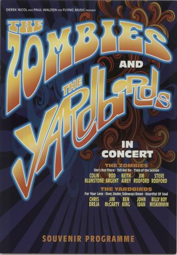 The Zombies The Zombies And The Yardbirds In Concert + ticket stubs tour programme UK ZOMTRTH679716
