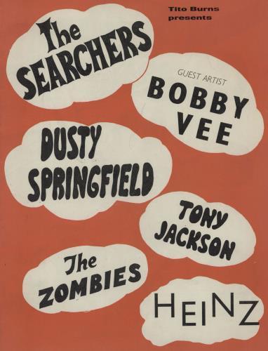 The Zombies UK Tour tour programme UK ZOMTRUK759810