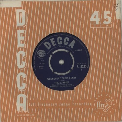 """The Zombies Whenever You're Ready 7"""" vinyl single (7 inch record) UK ZOM07WH681287"""
