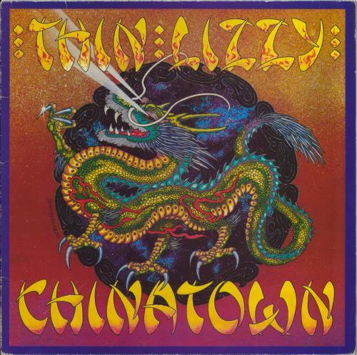 Thin Lizzy Chinatown - 1st - EX vinyl LP album (LP record) UK THILPCH519053