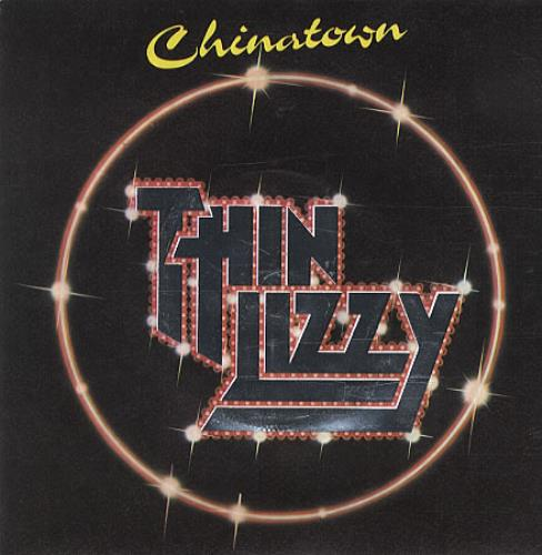 "thin lizzy chinatown - embossed sleeve uk 7"" vinyl single (7 inch"
