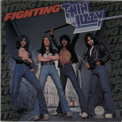 Thin Lizzy Fighting - 1st - EX vinyl LP album (LP record) UK THILPFI598039
