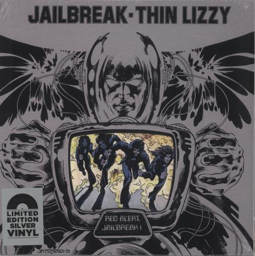 Thin Lizzy Jailbreak - Silver Vinyl vinyl LP album (LP record) UK THILPJA736117