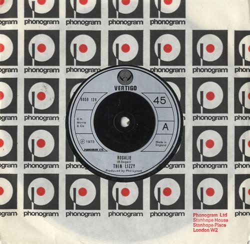 "Thin Lizzy Rosalie 7"" vinyl single (7 inch record) UK THI07RO483100"