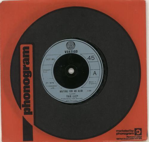 "Thin Lizzy Waiting For An Alibi 7"" vinyl single (7 inch record) UK THI07WA565697"