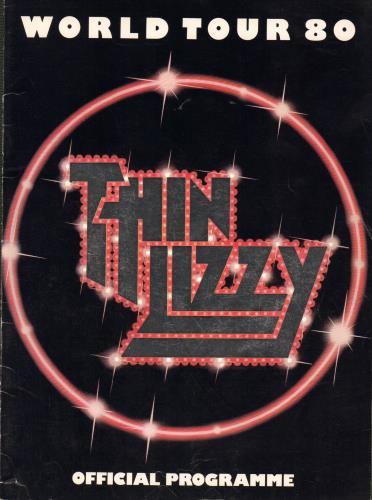 Thin Lizzy World Tour 80 - EX tour programme UK THITRWO114036