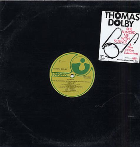 "Thomas Dolby She Blinded Me With Science 12"" vinyl single (12 inch record / Maxi-single) US DOL12SH297322"