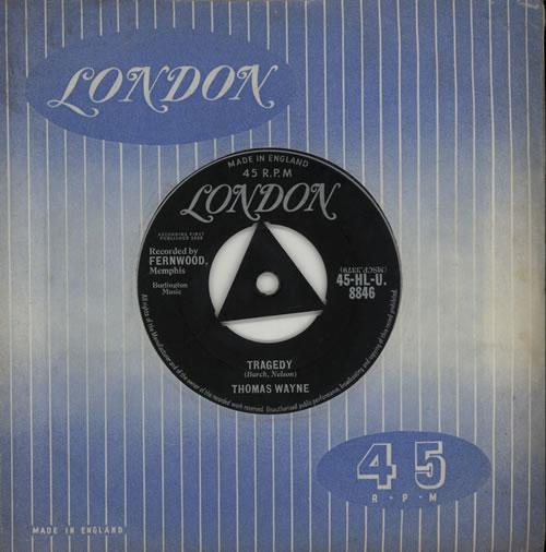 """Thomas Wayne Tragedy 7"""" vinyl single (7 inch record) UK VXO07TR571827"""