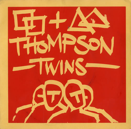 """Thompson Twins Squares & Triangles - Red/Yellow Sleeve 7"""" vinyl single (7 inch record) UK TWI07SQ194951"""