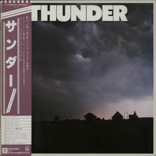 Thunder (80S) Thunder vinyl LP album (LP record) Japanese W7ULPTH623202
