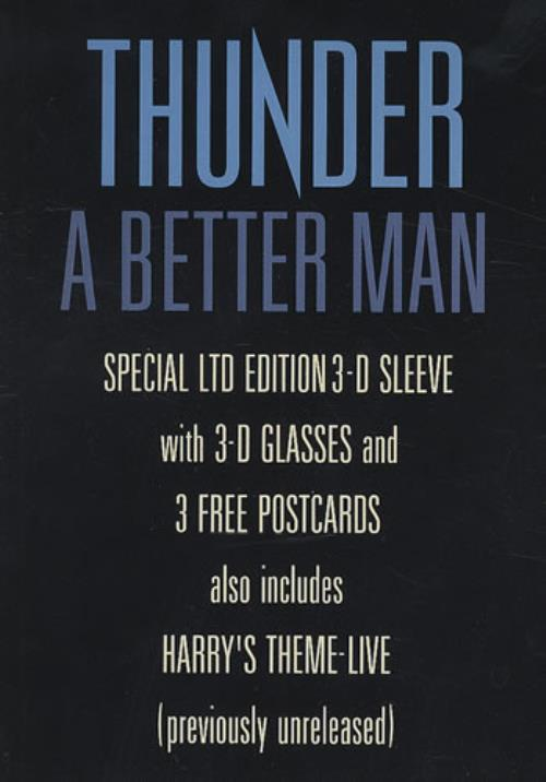 "Thunder A Better Man - 3-D Sleeve + Glasses 7"" vinyl single (7 inch record) UK THU07AB14193"