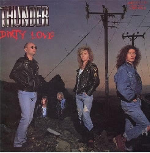 "Thunder Dirty Love - autographed 12"" vinyl single (12 inch record / Maxi-single) UK THU12DI185628"