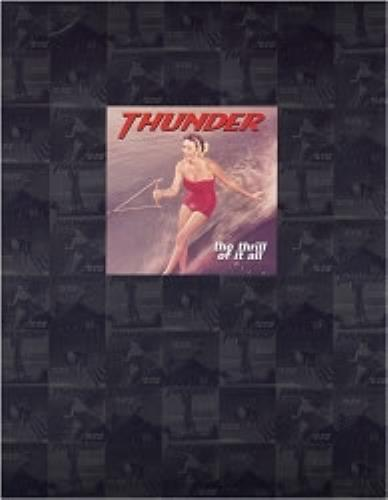 Thunder The Thrill Of It All tour programme UK THUTRTH181879