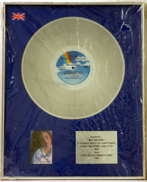 Tiffany Hold An Old Friend award disc UK TIFAWHO608909
