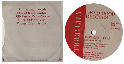 "Tiger Lily Monkey Jive 7"" vinyl single (7 inch record) UK ILY07MO553258"