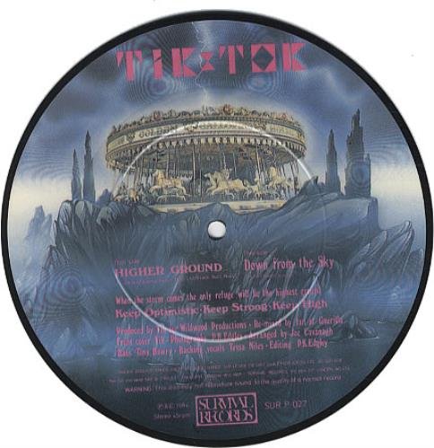 "Tik & Tok Higher Ground 7"" vinyl picture disc 7 inch picture disc single UK TOK7PHI340995"