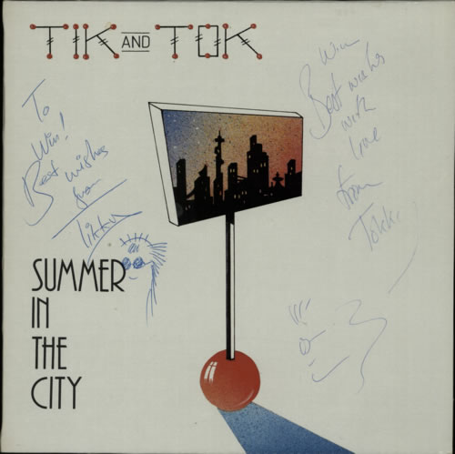 "Tik & Tok Summer In The City - Autographed 12"" vinyl single (12 inch record / Maxi-single) UK TOK12SU604350"