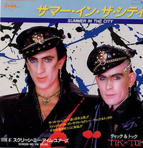 "Tik & Tok Summer In The City 7"" vinyl single (7 inch record) Japanese TOK07SU318629"