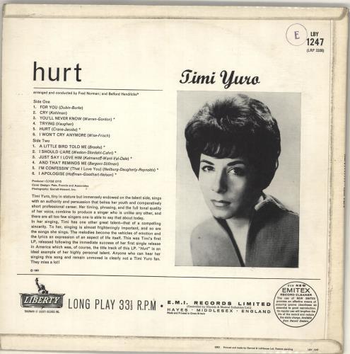 Timi Yuro Hurt!!!!!!! vinyl LP album (LP record) UK TYULPHU700840