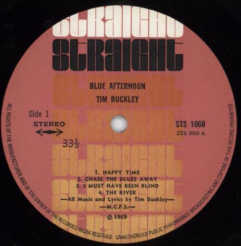Tim Buckley Blue Afternoon - 1st vinyl LP album (LP record) UK TBKLPBL765419