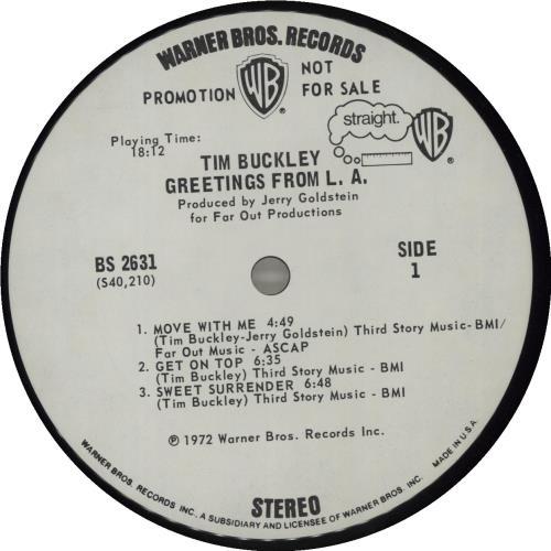 Tim buckley greetings from la us promo vinyl lp album lp record tim buckley greetings from la vinyl lp album lp record us tbklpgr356885 m4hsunfo